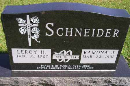 SCHNEIDER, LEROY H. - Hanson County, South Dakota | LEROY H. SCHNEIDER - South Dakota Gravestone Photos