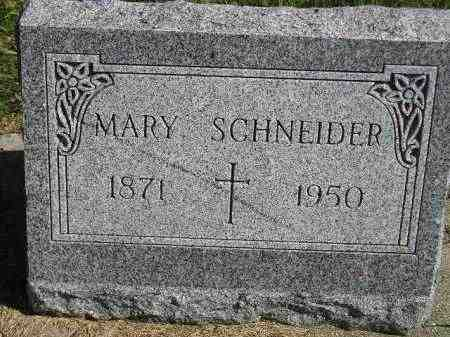 SCHNEIDER, MARY - Hanson County, South Dakota   MARY SCHNEIDER - South Dakota Gravestone Photos