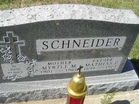 SCHNEIDER, MYRTLE M. - Hanson County, South Dakota | MYRTLE M. SCHNEIDER - South Dakota Gravestone Photos