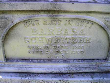 SCHWEITZER, BARBARA - Hanson County, South Dakota | BARBARA SCHWEITZER - South Dakota Gravestone Photos