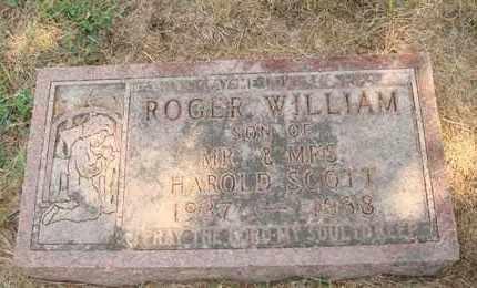 SCOTT, ROGER WILLIAM - Hanson County, South Dakota | ROGER WILLIAM SCOTT - South Dakota Gravestone Photos
