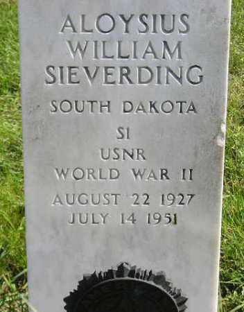 SIEVERDING, ALOYSIUS WILLIAM - Hanson County, South Dakota | ALOYSIUS WILLIAM SIEVERDING - South Dakota Gravestone Photos