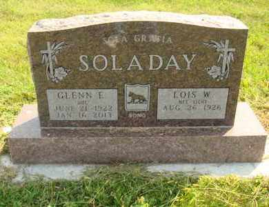 SOLADAY, GLENN E. - Hanson County, South Dakota | GLENN E. SOLADAY - South Dakota Gravestone Photos