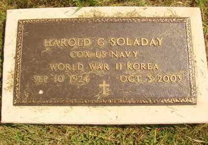 SOLADAY, HAROLD G - Hanson County, South Dakota   HAROLD G SOLADAY - South Dakota Gravestone Photos