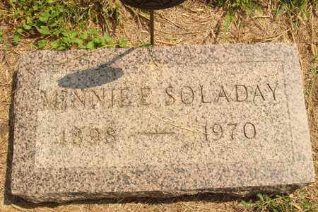 SOLADAY, MINNIE E. - Hanson County, South Dakota | MINNIE E. SOLADAY - South Dakota Gravestone Photos