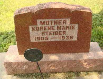 STEIBER, KORENE MARIE - Hanson County, South Dakota | KORENE MARIE STEIBER - South Dakota Gravestone Photos