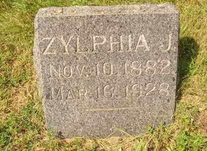 TOBLER, ZYLPHIA J. - Hanson County, South Dakota   ZYLPHIA J. TOBLER - South Dakota Gravestone Photos