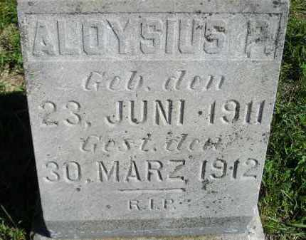 WAGNER, ALOYSIUS P. - Hanson County, South Dakota | ALOYSIUS P. WAGNER - South Dakota Gravestone Photos