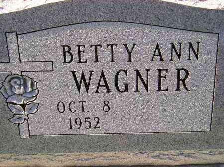 WAGNER, BETTY ANN - Hanson County, South Dakota | BETTY ANN WAGNER - South Dakota Gravestone Photos