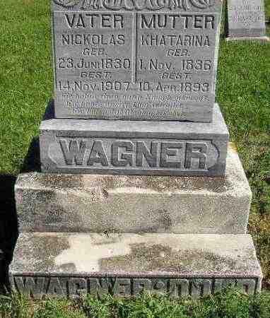 WAGNER, KHATARINA - Hanson County, South Dakota | KHATARINA WAGNER - South Dakota Gravestone Photos