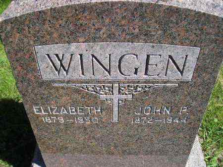 WINGEN, ELIZABETH - Hanson County, South Dakota   ELIZABETH WINGEN - South Dakota Gravestone Photos