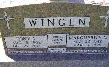 WINGEN, MARGUERITE M. - Hanson County, South Dakota | MARGUERITE M. WINGEN - South Dakota Gravestone Photos