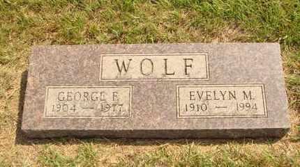 WOLF, EVELYN M. - Hanson County, South Dakota | EVELYN M. WOLF - South Dakota Gravestone Photos