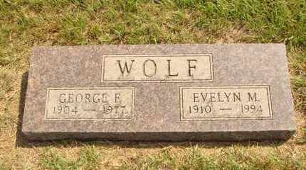WOLF, GEORGE F. - Hanson County, South Dakota | GEORGE F. WOLF - South Dakota Gravestone Photos