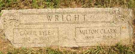 WRIGHT, MILTON CLARK - Hanson County, South Dakota | MILTON CLARK WRIGHT - South Dakota Gravestone Photos
