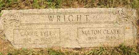 WRIGHT, MILTON CLARK - Hanson County, South Dakota | MILTON CLARK WRIGHT - South Dakota Gravestone Photos