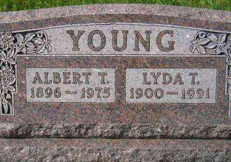 YOUNG, LYDA T. - Hanson County, South Dakota | LYDA T. YOUNG - South Dakota Gravestone Photos
