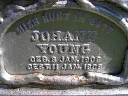 YOUNG, JOHANN - Hanson County, South Dakota | JOHANN YOUNG - South Dakota Gravestone Photos