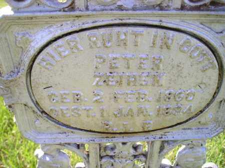 ZEIHEN, PETER - Hanson County, South Dakota | PETER ZEIHEN - South Dakota Gravestone Photos