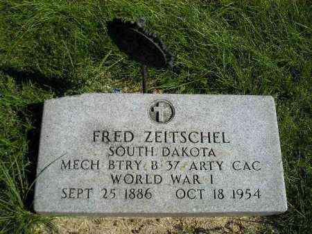 ZEITSCHEL, FRED - Hanson County, South Dakota | FRED ZEITSCHEL - South Dakota Gravestone Photos