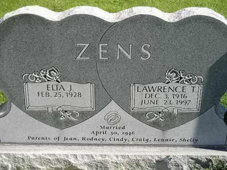 ZENS, ELTA J. - Hanson County, South Dakota | ELTA J. ZENS - South Dakota Gravestone Photos