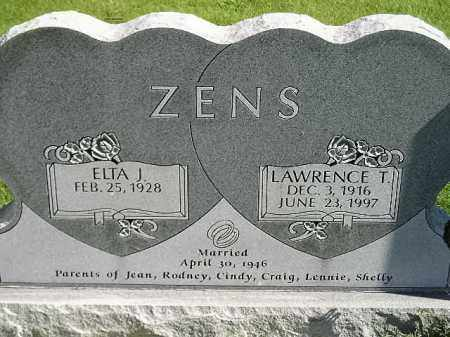 ZENS, ELTA J. - Hanson County, South Dakota | ELTA J. ZENS - South Dakota Gravestone Photos