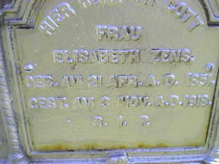 ZENS, ELISABETH - Hanson County, South Dakota | ELISABETH ZENS - South Dakota Gravestone Photos