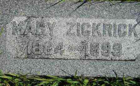 ZICKRICK, MARY - Hanson County, South Dakota | MARY ZICKRICK - South Dakota Gravestone Photos