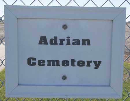 *ADRIAN CEMETERY, SIGN - Hutchinson County, South Dakota   SIGN *ADRIAN CEMETERY - South Dakota Gravestone Photos