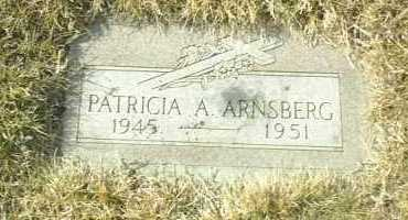 ARNSBERG, PATRICIA - Hutchinson County, South Dakota | PATRICIA ARNSBERG - South Dakota Gravestone Photos