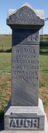 AUCH, ROSINA - Hutchinson County, South Dakota | ROSINA AUCH - South Dakota Gravestone Photos