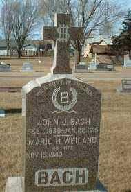 BACH, JOHN - Hutchinson County, South Dakota | JOHN BACH - South Dakota Gravestone Photos