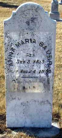 BAUER, ANNA MARIA - Hutchinson County, South Dakota | ANNA MARIA BAUER - South Dakota Gravestone Photos
