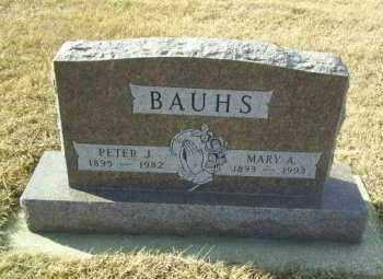 BAUHS, PETER - Hutchinson County, South Dakota   PETER BAUHS - South Dakota Gravestone Photos