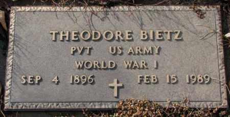 BIETZ, THEODORE (WW I ) - Hutchinson County, South Dakota   THEODORE (WW I ) BIETZ - South Dakota Gravestone Photos