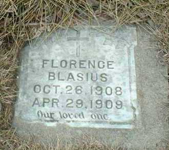 BLASIUS, FLORENCE - Hutchinson County, South Dakota | FLORENCE BLASIUS - South Dakota Gravestone Photos