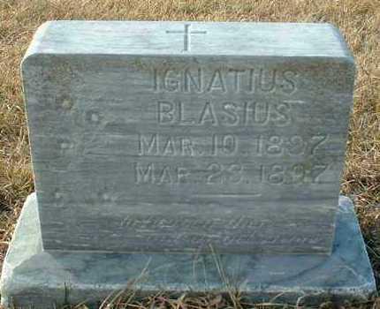 BLASIUS, IGNATIUS - Hutchinson County, South Dakota | IGNATIUS BLASIUS - South Dakota Gravestone Photos