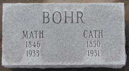 BOHR, CATH - Hutchinson County, South Dakota   CATH BOHR - South Dakota Gravestone Photos
