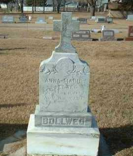 BOLLWEG, ANNA - Hutchinson County, South Dakota | ANNA BOLLWEG - South Dakota Gravestone Photos