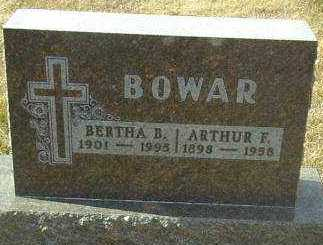BOWAR, BERTHA - Hutchinson County, South Dakota | BERTHA BOWAR - South Dakota Gravestone Photos