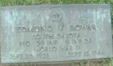 BOWAR, EDMUND V. - Hutchinson County, South Dakota | EDMUND V. BOWAR - South Dakota Gravestone Photos
