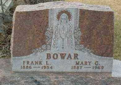 BOWAR, FRANK - Hutchinson County, South Dakota   FRANK BOWAR - South Dakota Gravestone Photos