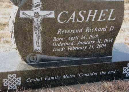 CASHEL, RICHARD D. (REV) - Hutchinson County, South Dakota | RICHARD D. (REV) CASHEL - South Dakota Gravestone Photos