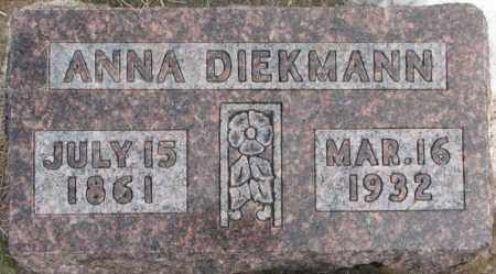 DIEKMANN, ANNA - Hutchinson County, South Dakota   ANNA DIEKMANN - South Dakota Gravestone Photos