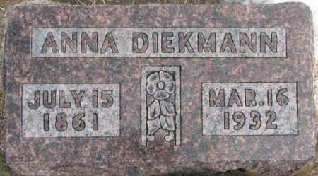 DIEKMANN, ANNA - Hutchinson County, South Dakota | ANNA DIEKMANN - South Dakota Gravestone Photos