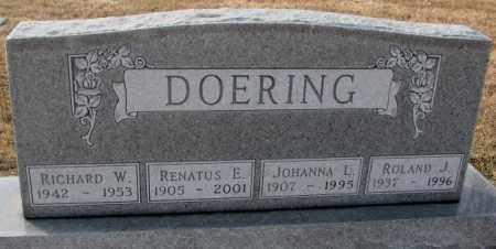 DOERING, JOHANNA L. - Hutchinson County, South Dakota | JOHANNA L. DOERING - South Dakota Gravestone Photos