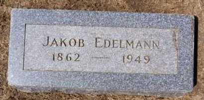 EDELMANN, JAKOB - Hutchinson County, South Dakota | JAKOB EDELMANN - South Dakota Gravestone Photos