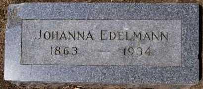 EDELMANN, JOHANNA - Hutchinson County, South Dakota | JOHANNA EDELMANN - South Dakota Gravestone Photos