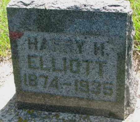 ELLIOTT, HARRY H. - Hutchinson County, South Dakota   HARRY H. ELLIOTT - South Dakota Gravestone Photos