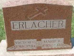 ERLACHER, VICTOR U. - Hutchinson County, South Dakota | VICTOR U. ERLACHER - South Dakota Gravestone Photos